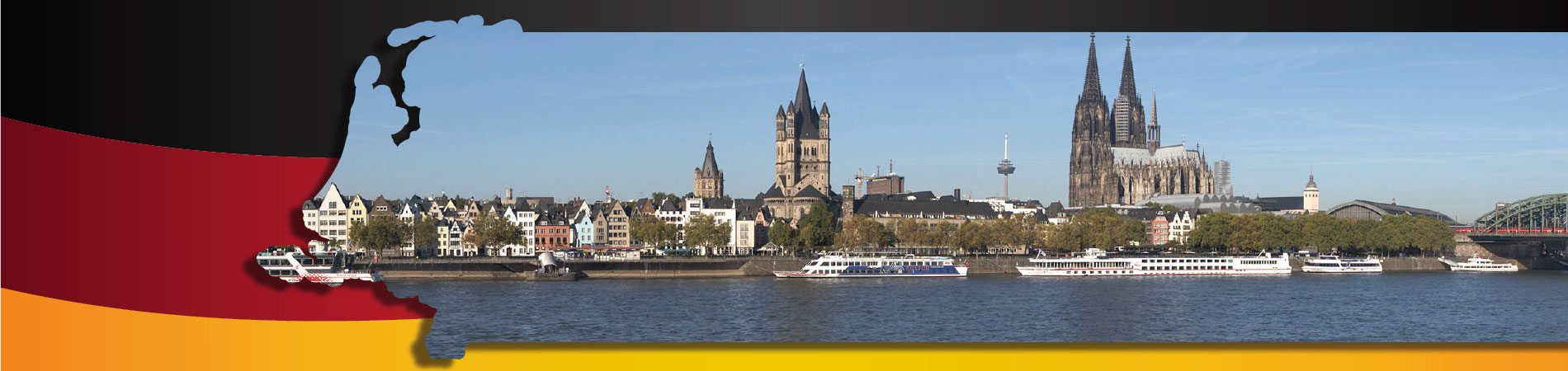 Skyline of Cologne with the worrld famous Cathedral