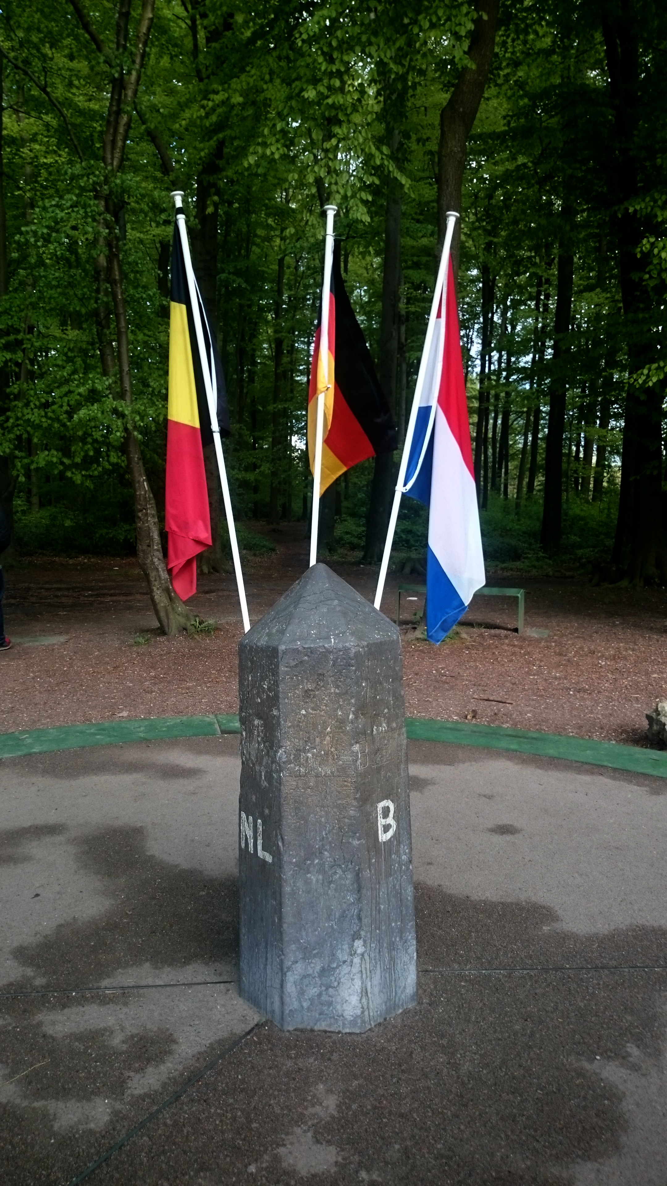 Flags at the three country point Vaals