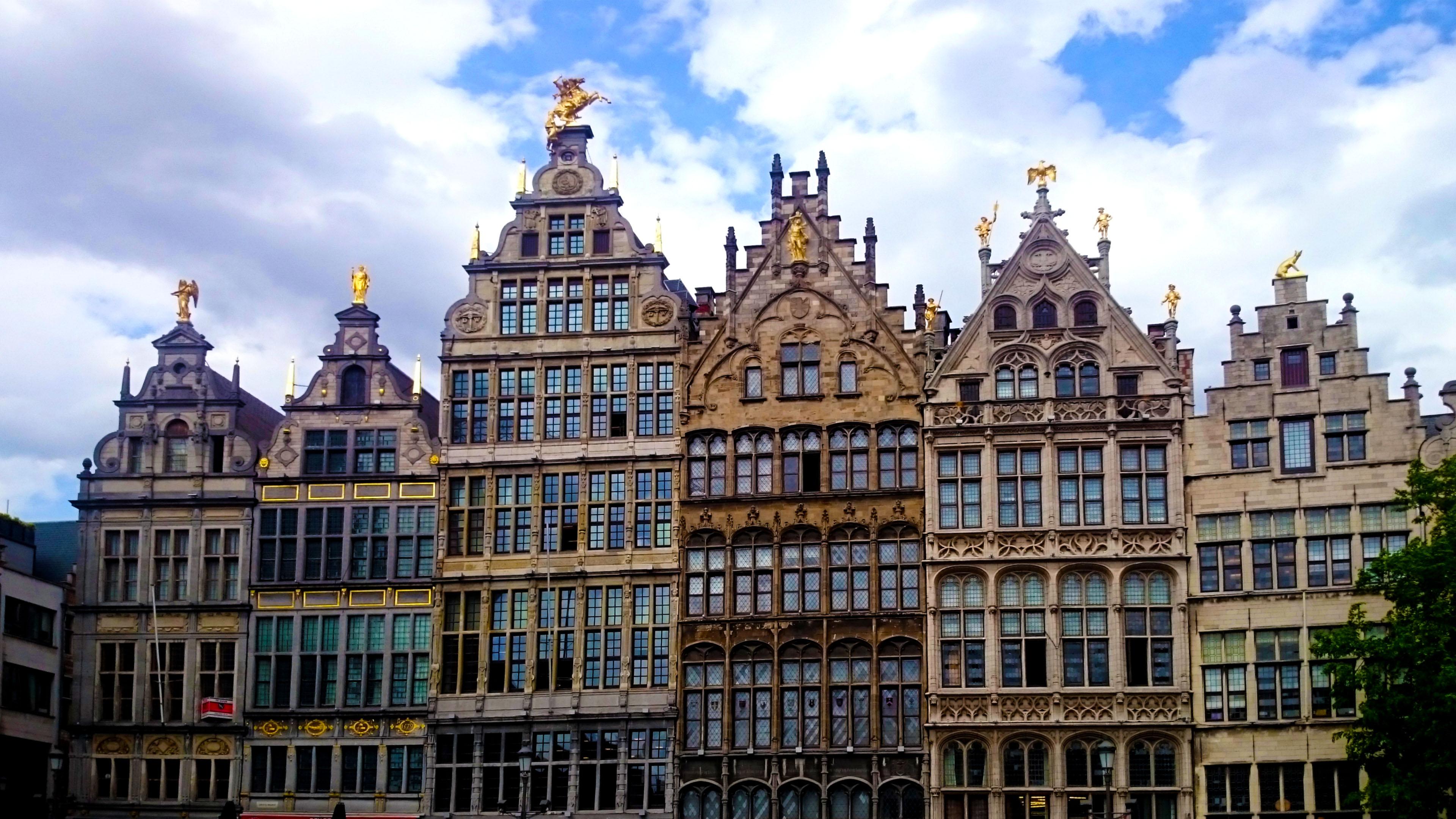 Antwerp - medieval facades