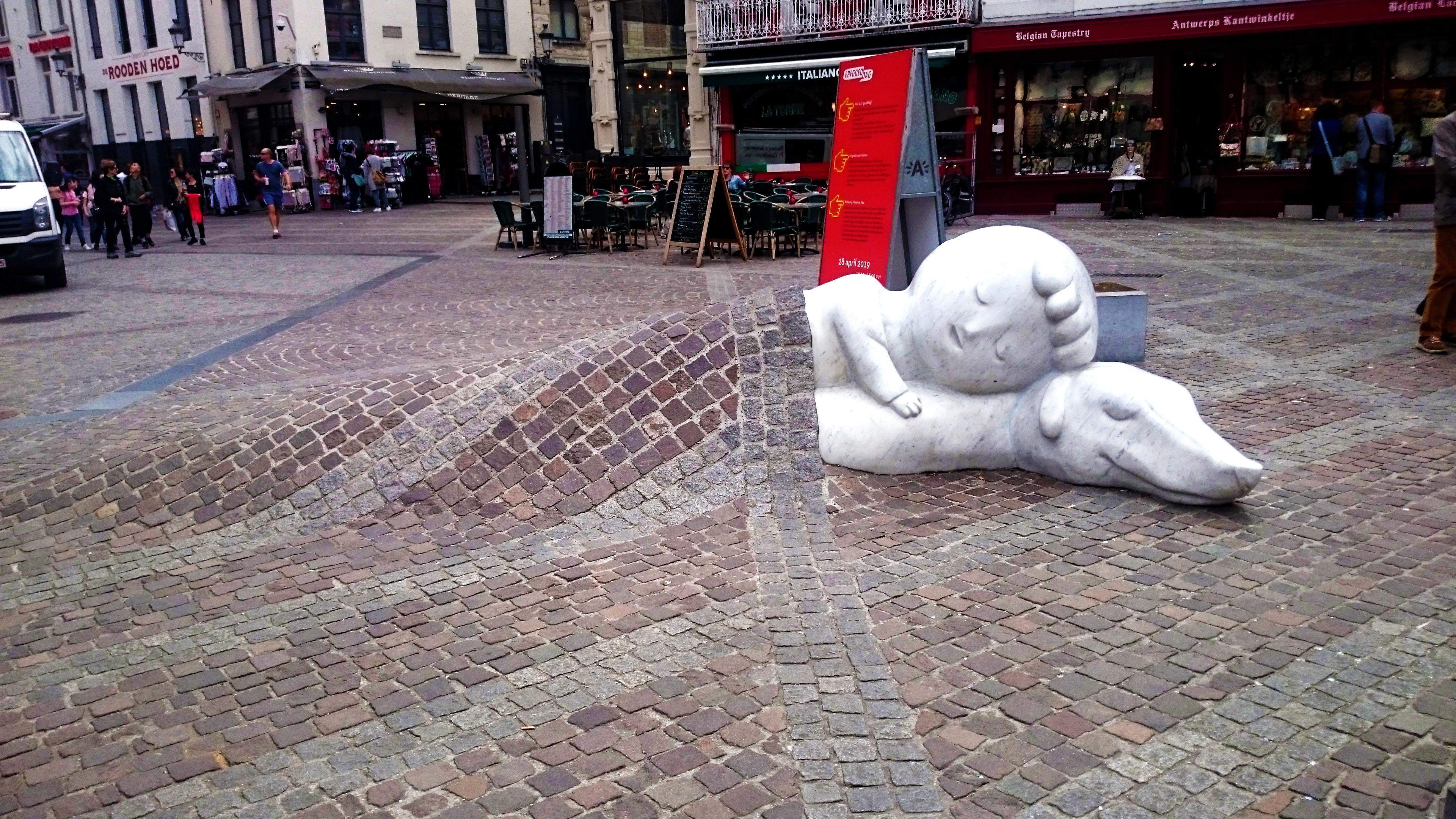 Antwerp - Nello & Patrache Statue