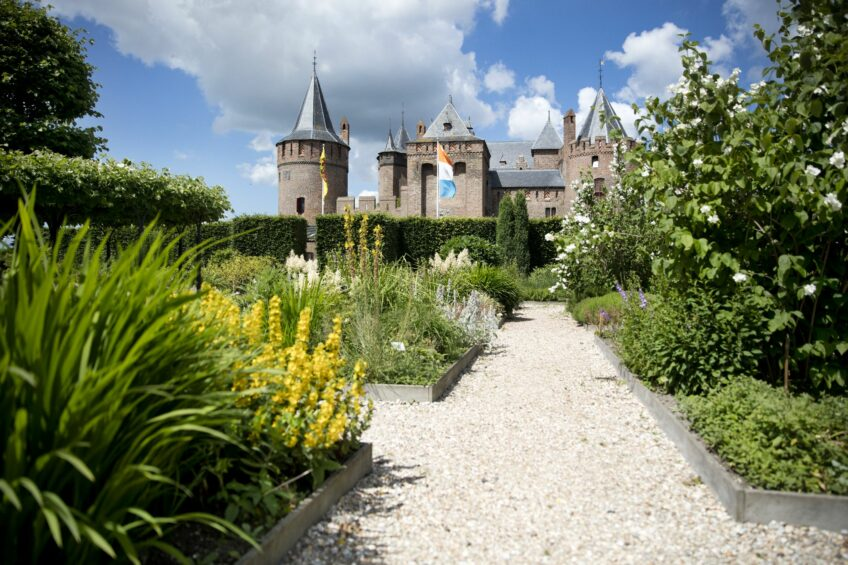 Castle garden of Muiderslot