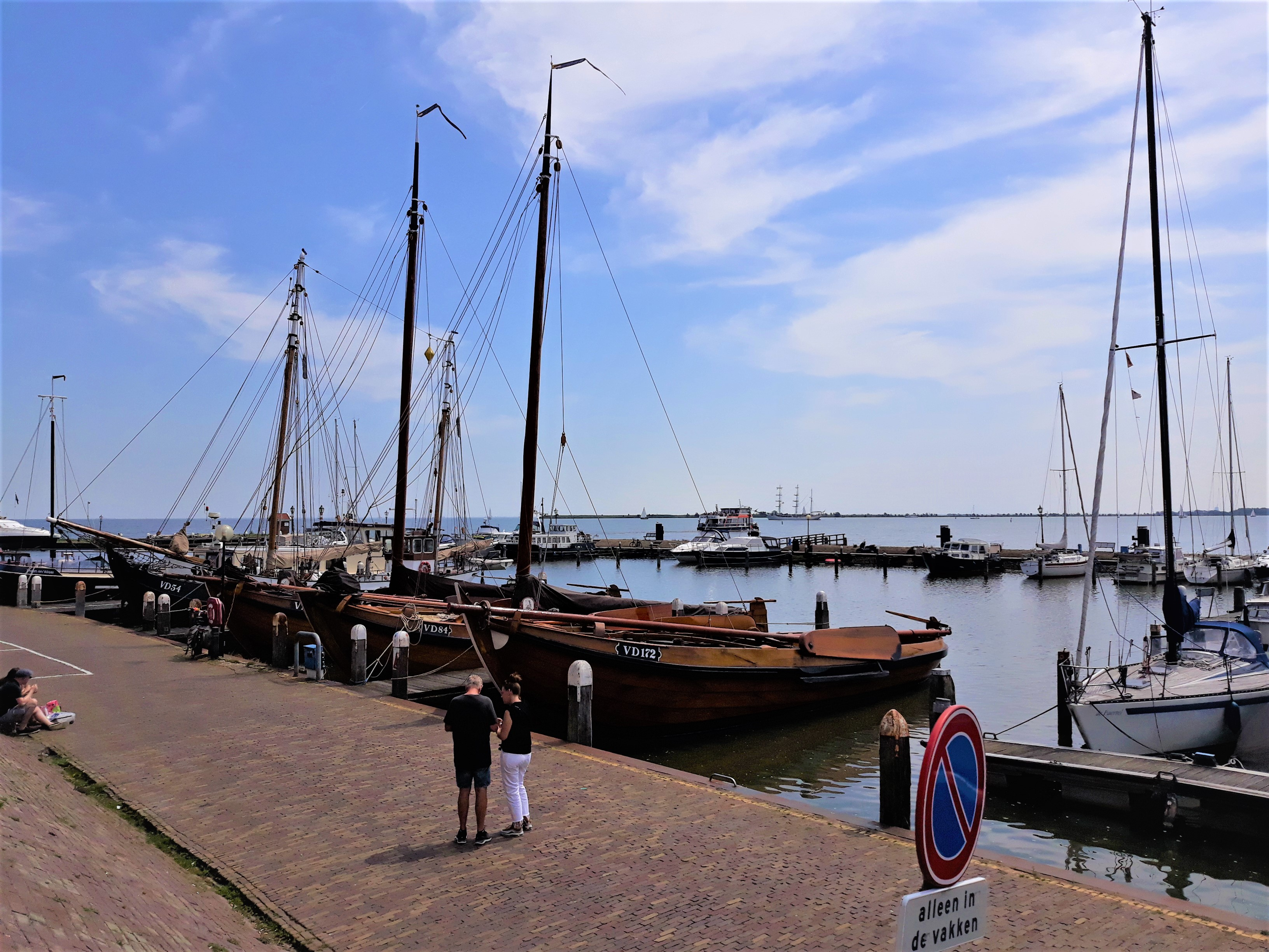 Boats in Harbor Volendam